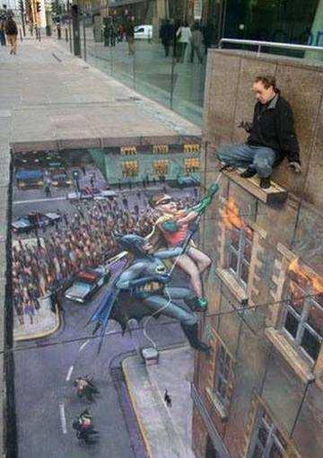 Efecto Optico, Batman and Robin al rescate